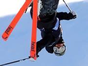 Bewahrt trotz Überkopf einen kühlen Kopf: Halfpipe-Weltmeister Aaron Blunck (Bild: KEYSTONE/AP/RICK BOWMER)