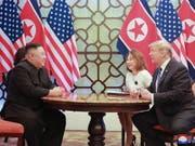 Wollen laut Angaben aus Nordkorea weiter über Abrüstung diskutieren: Nordkoreas Machthaber Kim Jong Un und US-Präsident Donald Trump. (Bild: KEYSTONE/EPA KCNA)