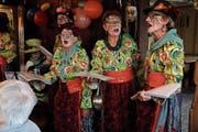 Die Passwit-Tröller singen in frechen Reimen. (Bild: Fränzi Göggel)