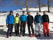 Erwin und Theres Arnold, Raphael Arnold und David Gisler sowie Edy und Chris Gisler (von links) holten sich die Podestplätze beim Differenzrennen auf dem Haldi am 17. Februar 2019. (Bild: PD)