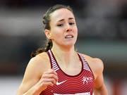 Selina Büchel kann über 800 m zum dritten Mal in Serie Hallen-Europameisterin werden (Bild: KEYSTONE/GIAN EHRENZELLER)