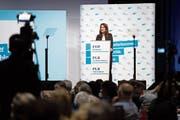Wurde von der eigenen Fraktion überstimmt: FDP-Präsidentin Petra Gössi, hier bei einer Delegiertenversammlung ihrer Partei in Biel. (Bild: Anthony Anex/Keystone (12. Januar 2019))