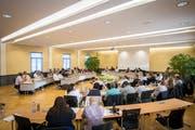 Blick in eine Sitzung des Kreuzlinger Gemeinderates. (Bild: Reto Martin, 14. Juni 2018)