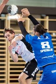 Der Gossauer Niels Ham (links) trifft gegen Luzerner sechs Mal. (Bild: Benjamin Manser)