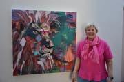 Künstlerin Lilo Michel aus Ebnat-Kappel widmet sich der Acryl- und Ölmalerei. (Bild: Anina Rütsche)