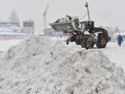 Zu viel Schnee - erneut kein Abfahrts-Training für die Frauen (Bild: KEYSTONE/APA/APA/BARBARA GINDL)