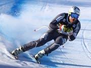 Abfahrts-Weltmeister Kjetil Jansrud auf seiner Heimstrecke in Kvitfjell unterwegs zur Bestzeit im einzigen Training (Bild: KEYSTONE/AP/ALESSANDRO TROVATI)