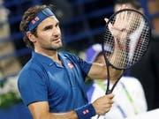 Roger Federer fehlt noch ein Sieg zum 100. Turniersieg - Finalgegner ist am Samstag der Grieche Stefanos Tsitsipas (Bild: KEYSTONE/EPA/ALI HAIDER)
