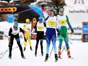 Im Zielsprint nicht zu bezwingen: Dario Cologna triumphierte zum 4. Mal am Engadin Skimarathon (Bild: KEYSTONE/EPA KEYSTONE/ENNIO LEANZA)