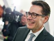 Der St. Galler CVP-Regierungsrat Benedikt Würth (CVP) geht als Favorit in den zweiten Wahlgang für die Ständerats-Ersatzwahl für Bundesrätin Karin Keller-Sutter (FDP). (Bild: Keystone/Walter Bieri)
