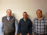 Die drei Neuen (von links): der neue Betriebsleiter Werner Arnold, der neue Beisitzer Markus Gisler sowie der neue Präsident Bruno Arnold. Bild: (PD, Unterschächen, 8. März 2019)