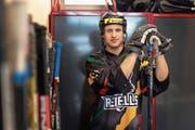 Raphael Enzler spielt erst seit drei Jahren Streethockey. (Bild: Roger Zbinden (Zug, 9. März 2019))