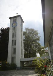 Bei der Kirche Goldach wird der zweite Teil des Spielplatzes gebaut. (Bild: PD)