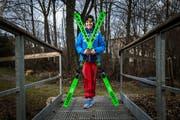 Die 16-jährige Andrina Frank aus Kägiswil wurde Zweite an den Schweizer Meisterschaften bei den Juniorinnen. Bild: Boris Bürgisser (Kägiswil, 8. März 2019)