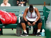 Serena Williams musste in Indian Wells aufgeben (Bild: KEYSTONE/EPA/JOHN G. MABANGLO)