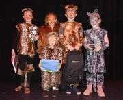 Ein lautes und buntes Vergnügen für Gross und Klein: Kindermaskenball unter dem Motto «Dschungel» in Sax. (Bilder: PD)