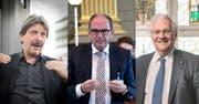 Paul Rechsteiner (SP), Bruno Damann (CVP) und Thomas Müller (SVP) treffen sich zu einem Gespräch über die Doppelspur in Rorschach.