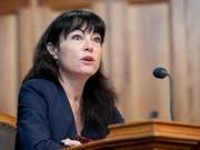 Géraldine Savary (SP/VD) macht sich im Ständerat für eine Klausel im Urheberrecht zugunsten der Medienverlage stark. Der Ständerat hat den Entscheid darüber aber vertagt. (Bild: KEYSTONE/ANTHONY ANEX)