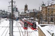 Die Appenzeller Bahnen verbinden ab Montag das Riethüsli und die Notkersegg im Viertelstundentakt. (Bild: Michel Canonica (7. Februar 2019))