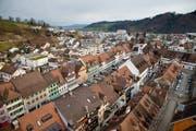Das Städtli Willisau, aufgenommen vom Turm der Pfarrkirche St. Peter und Paul. (Archivbild: Philipp Schmidli)