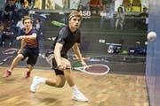 Der 20-jährige Krienser Roman Allinckx hat sich zum Ziel gesetzt, mindestens zwei Jahre als Squash-Berufsspieler unterwegs zu sein. (Bild: Stefan Kleiser)