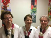 Rosa Kempf, Margrit Indergand und Rita Ziegler wurden an der GV geehrt. (Bild: PD)