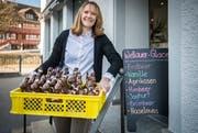 Helena Stauber eröffnet an der Bahnhofstrasse 5 in Amriswil ein Chocolatiergeschäft mit Gelateria und führt den Namen Wellauer weiter. (Bild: Reto Martin)