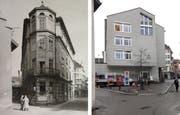 Das Café Weisshaar war näher ans Waaghaus gebaut als es heute die Post Brühltor ist. Darum hat's vor der Post Platz für einen kleinen Baum. (Bilder: Stadtarchiv der OG St.Gallen/Reto Voneschen)