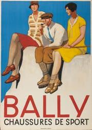 """Museum für Gestaltung: Ausstellung """"Bally – Swiss Shoes Since 1851"""". Emil Cardinaux, Bally chaussures de sport, 1928, ©Bally Schuhfabriken AG"""