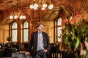 SP-Ständerat Paul Rechsteiner im Restaurant Galerie des Alpes im Bundeshaus. (Bild: Sandra Ardizzone (Bern, 26. April 2018))