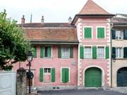 Umstrittener Umbau in ein Museum: Das rosafarbene Haus La Muette, in dem der berühmte Schriftsteller Charles Ferdinand Ramuz zwischen 1930 et 1947 wohnte. (Bild: Keystone/LEO DUPERREX)