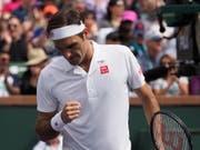 Roger Federer gewinnt innerhalb von 18 Stunden gegen Wawrinka und Edmund in zwei Sätzen - und muss noch drei weitere Spiele gewinnen, um den 101. Titel zu holen. (Bild: KEYSTONE/EPA/JOHN G. MABANGLO)