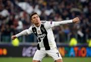 Cristiano Ronaldo schoss gegen Atlético Madrid. (Bild: Antonio Calanni / AP)