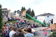 Die Einweihung des Spielplatzes beim Schulhaus Dreiggli in Hemberg war für Primarschulgemeinde Hemberg einer der Höhepunkte im vergangenen Jahr. (Bild: Urs M. Hemm, 17.09.2018)