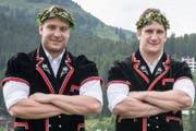 Ein erfolgreiches Brüderpaar aus der Bündner Herrschaft: Curdin Orlik (links) kämpft für die Berner, Armon für die Nordostschweizer. Bild: PD
