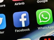 Hacker haben gleich mehrere Social-Media-Plattformen lahmgelegt, darunter Facebook. (Bild: KEYSTONE/AP/MARTIN MEISSNER)