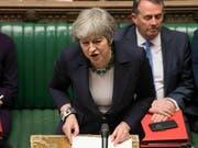 Die britische Premierministerin Theresa May kämpft weiter um einen geordneten Brexit. (Bild: KEYSTONE/AP UK Parliament/MARK DUFFY)
