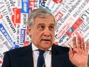 EU-Parlamentspräsident Antonio Tajani hat mit Äusserungen zu Mussolini für Verwirrung gesorgt. (Bild: KEYSTONE/AP/GREGORIO BORGIA)