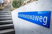 Der Alja Rachmanowaweg wurde nach der Autorin benannt. Ihr Haus lag direkt am Weg. (Bild: Andrea Stalder)