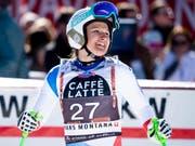 Priska Nufer gewinnt beim Europacup-Finale in Italien die Abfahrt (Bild: KEYSTONE/ALESSANDRO DELLA VALLE)