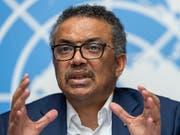 Der Generaldirektor der Weltgesundheitsorganisation WHO, Tedros Adhanom Ghebreyesus, will die Bekämpfung von Ebola mit einer Entwicklung des Gesundheitsdienstes verbinden. (Bild: KEYSTONE/MARTIAL TREZZINI)