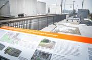 Vom Bunker beim Bahnhof Lengwil sieht man heute nur noch die Überreste. Dafür gibt es eine Informationstafel. (Bild: Andrea Stalder)