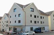 An der Verzweigung Hauptstrasse/Rietstrasse befindet sich der Eingang zum neuen Hotel. (Bild: hb)