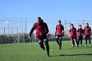 Der FC Altdorf (vorne) absolvierte im italienischen Cattolica ein intensives Trainingslager. Bild: PD