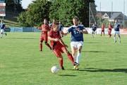 Die roten Bazenheider nehmen am Sonntag den dritten Anlauf in dieser Saison, Widnau erstmals zu schlagen. In der Hinrunde gab es in der Meisterschaft ein 0:0. Im Cup schieden die Toggenburger nach einer 2:4-Niederlage sogar aus. (Bild: Beat Lanzendorfer)