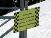 Der hintere Teil der Langlaufloipe und der Sassweg im liechtensteinischen Steg sind derzeit wegen Lawinengefahr gesperrt. (Bild: Susann Basler)