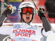 Stefan Luitz kann sich mit viel Verspätung über einen Sieg freuen (Bild: KEYSTONE/EPA/GUILLAUME HORCAJUELO)