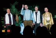 Die «Screaming Potatoes»: Jimmy Muff (von links), Thomas Inglin, Christian Peter Meier und Christof Buri. (Bild: Stefan Kaiser (Zug, 14. März 2019))