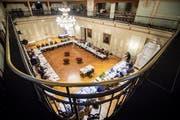 Das Stadtparlament hält eine Sitzungen im Grossen Bürgersaal ab. (Bild: Reto Martin)