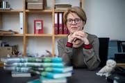 «Das gedruckte Buch ist erstaunlich robust», sagt Judith Kaufmann, Verlagsgründerin. (Bild: Pius Amrein, Luzern, 13. März 2019)